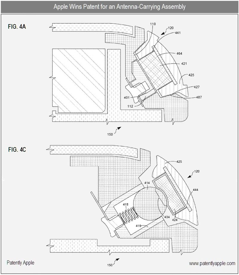 3 - Apple - antenna carrying assembly - granted patent sept 2010