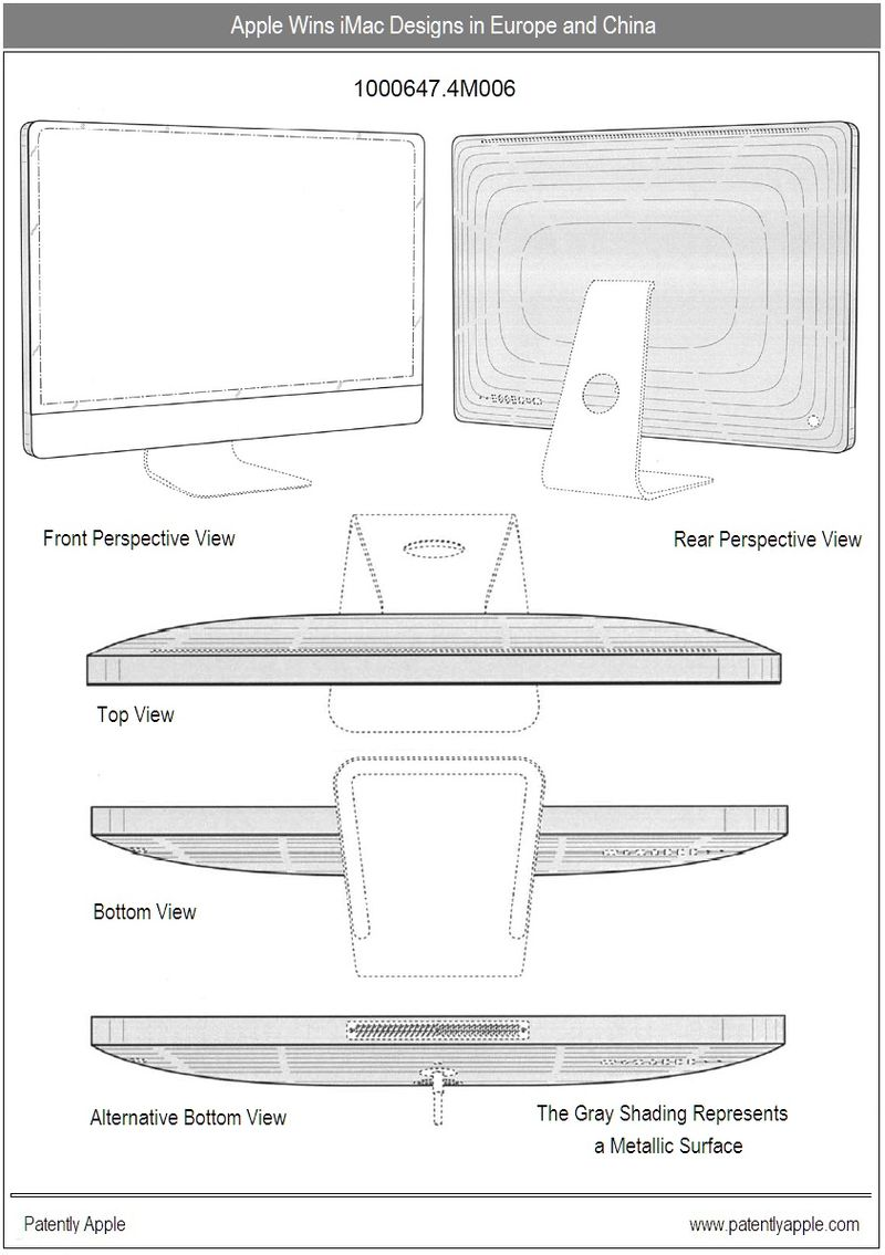5 - Apple wins designs for iMac in China and Europe -sept 2010