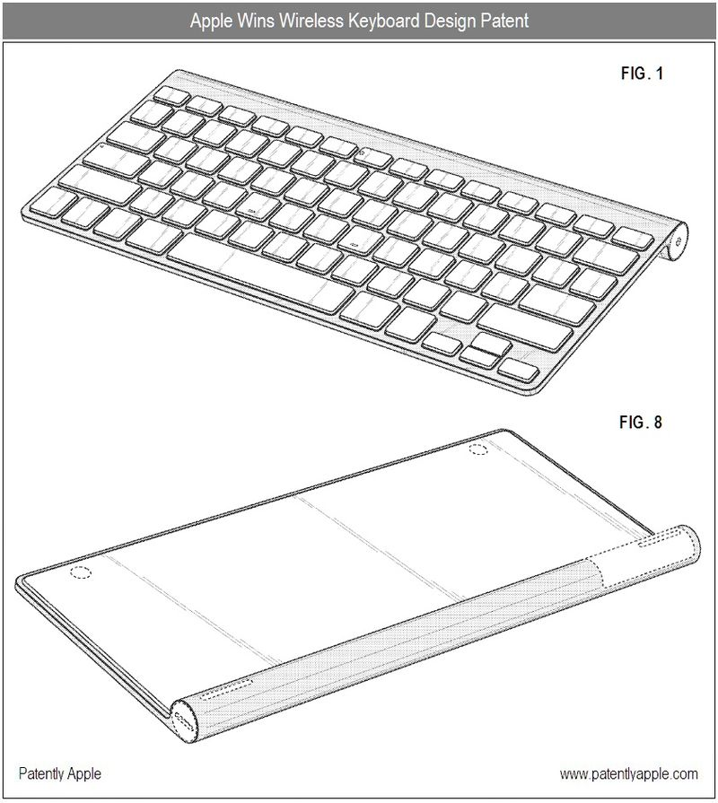 5 - Apple Inc, Wireless Keyboard Design, Granted Patent, Oct 12, 2010