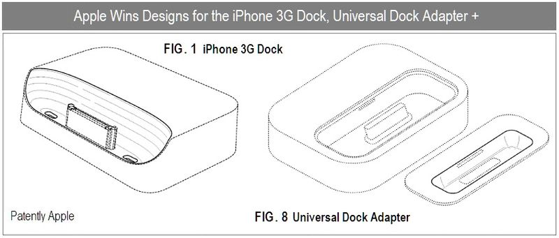 6 - Apple Inc, iPhone 3G Dock, Universal Dock Adapter, Design wins, Oct 2010