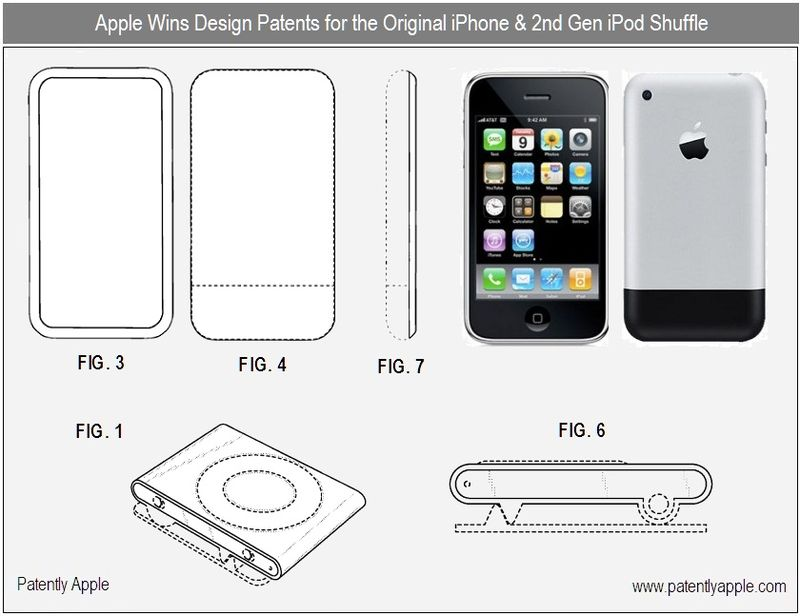2 - apple inc, design patent wins for original iphone & 2nd gen ipod shuffle - nov 2010