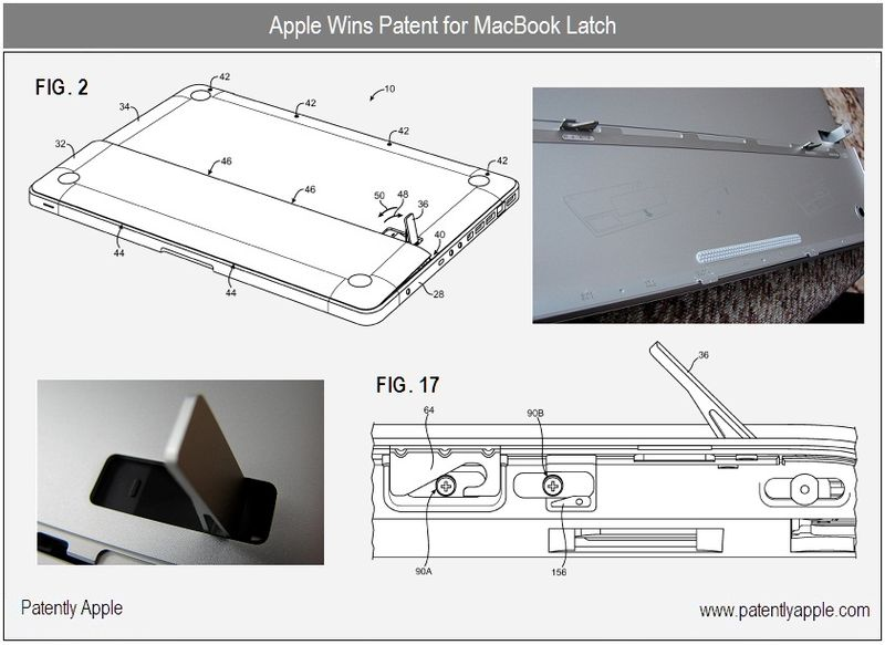 4 B - apple inc, patent granted for macbook latch