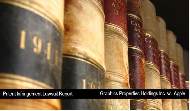 1 - Cover - Graphics Properties Holding Inc vs. Apple - patent infringement lawsuit - nov 2010