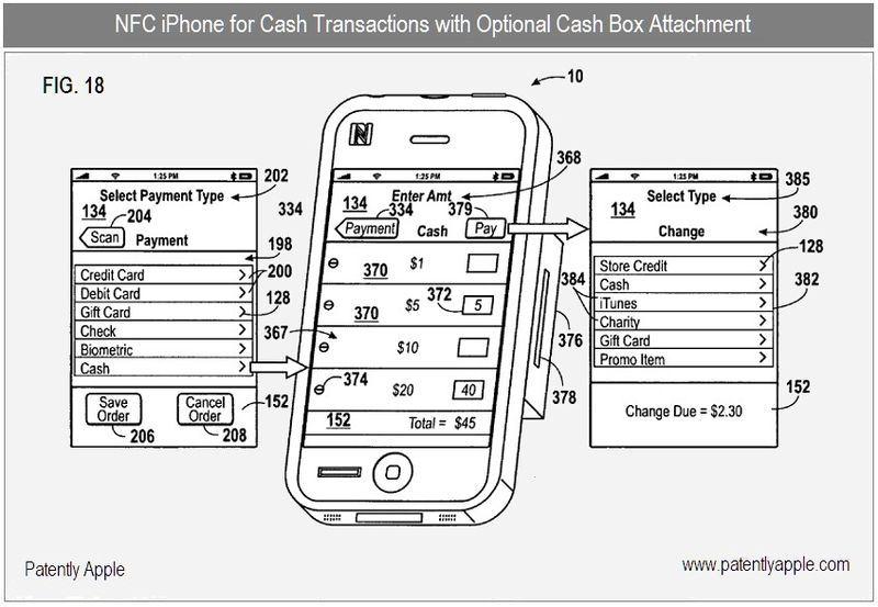 6 - NFC IPHONE FOR CASH TRANSACTIONS WITH OPTIONAL CASH BOX ATTACHMENT - FIG 18