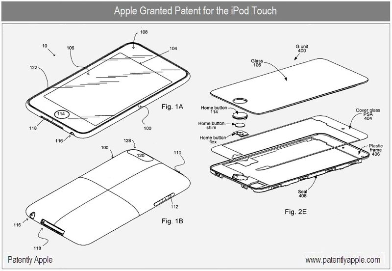 3 - iPod Touch granted patent apr 2010