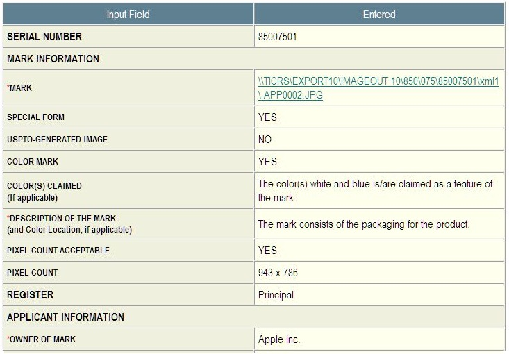 2 - Apple iPad packaging trademark