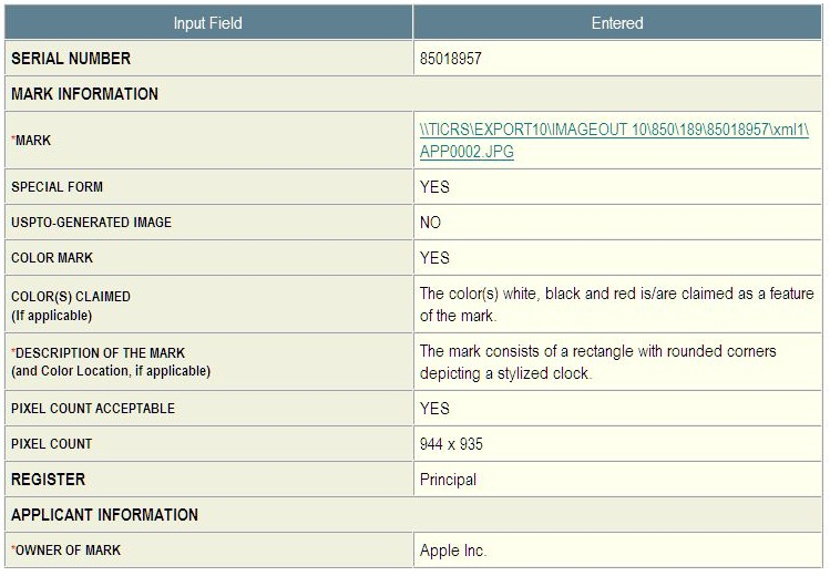 2 - WORLD CLOCK - application in part - trademark