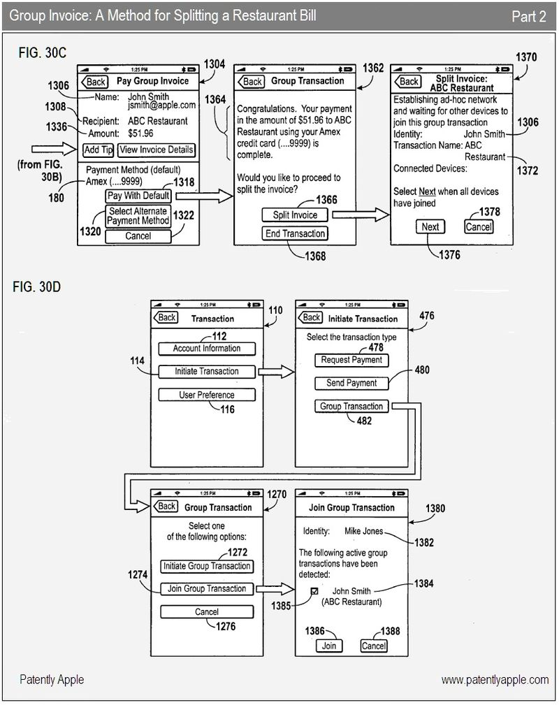Transaction 2 Apples E Wallet App Finally Surfaces In A Patent Pioneer Deh 2200ub Wiring Diagram 16 Group Invoice Part