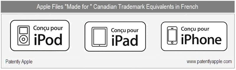 APPLE FILES MADE-FOR EQUIVALENTS IN FRENCH - IN CANADA