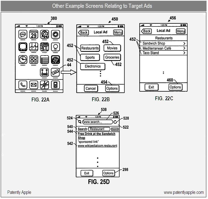 8 - other example screens related to target ads