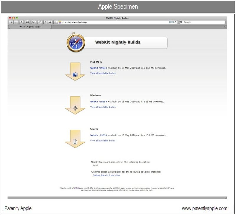 3 - TRADEMARK SPECIMEN , Apple - Webkit - may 2010