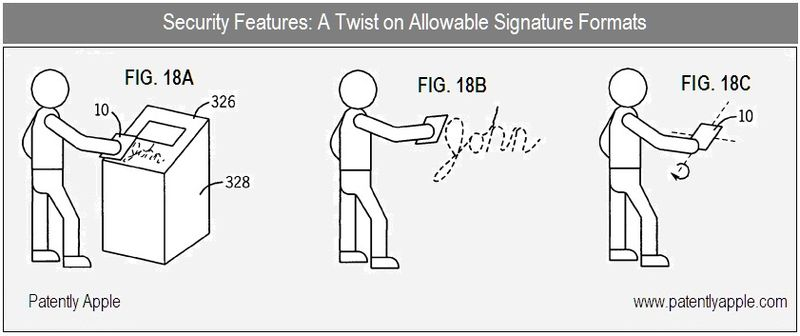 9 - A twist on signatures, Apple Inc, figs 18 A,B,C