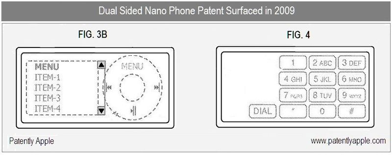 3 - dual sided nano phone revealed in 2009 patent b