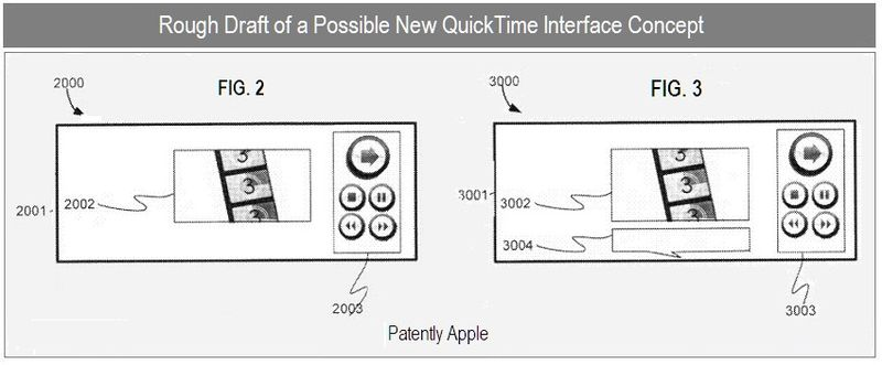 A3 - Apple Inc - possible new QuickTime UI concept