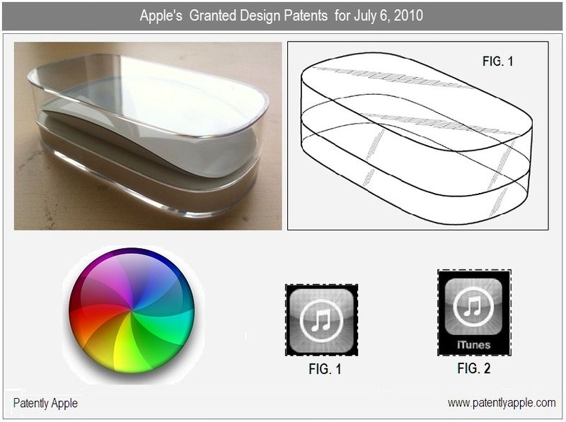 2 - Apple's Granted Design Wins for July 6, 2010