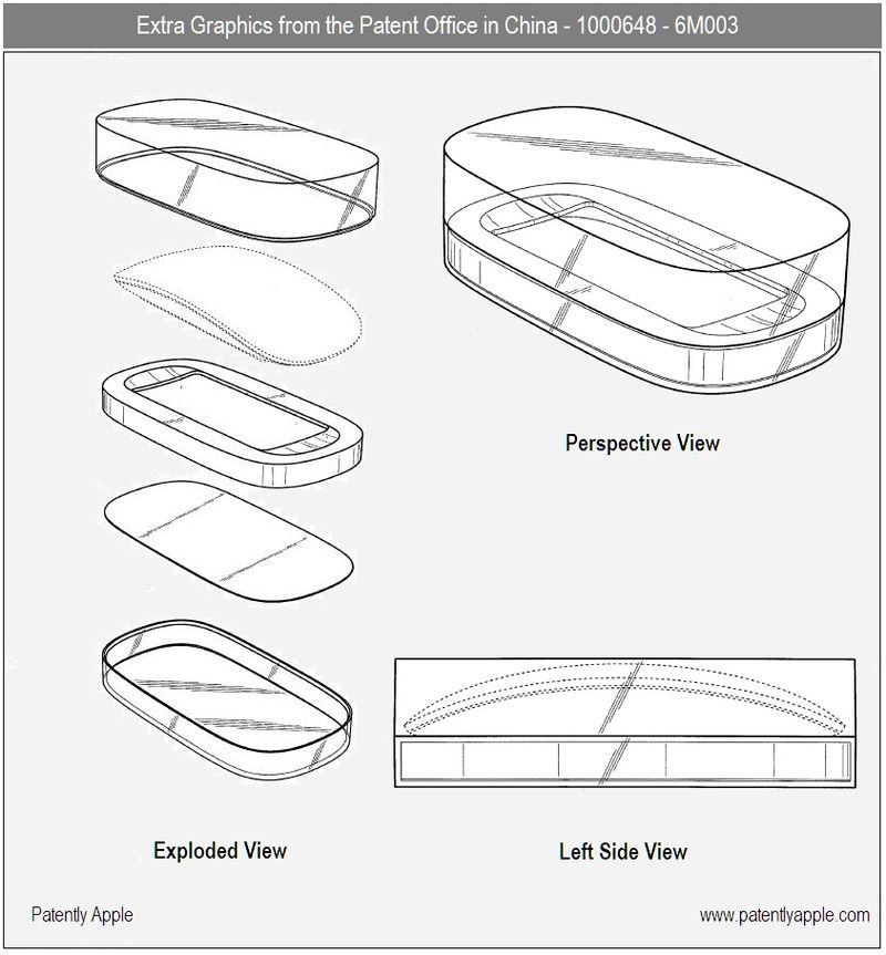 Extra Apple Magic Mouse Design Graphics from the Patent Office in China 1000648-6m003 - july 2010