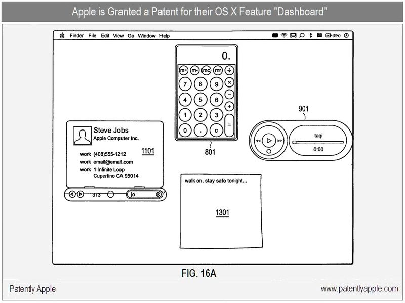 6 - Apple Granted a patent for OS X Feature - Dashboard