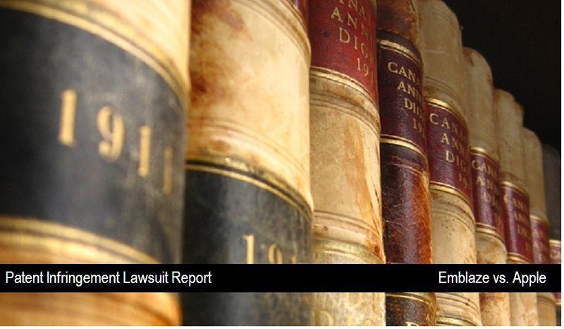 1 - Apple - Patent Infringement - Emblaze Plaintiff