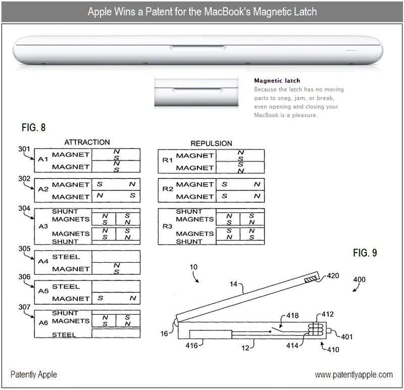 5 - magnetic latch patent win - apple inc