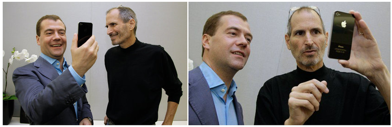 2 - Russian President Medvedev, Steve Jobs Apple