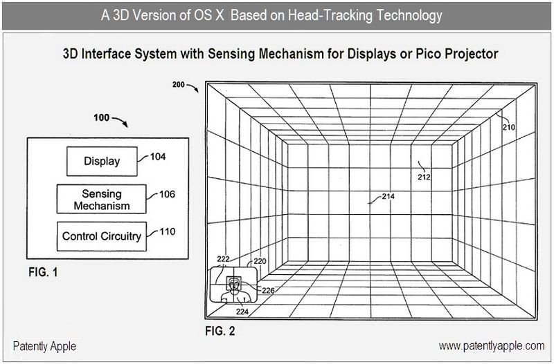 6 - 3D version of OS X - Head tracking system
