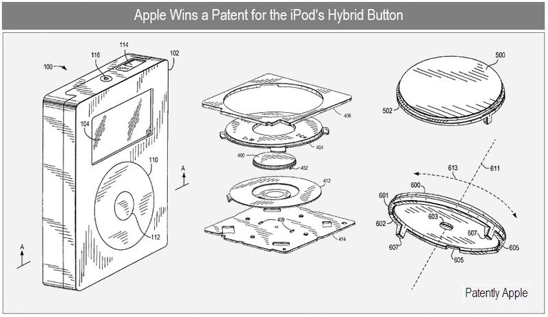 1 Cover - Apple iPod's hybrid button patent win sept 2010
