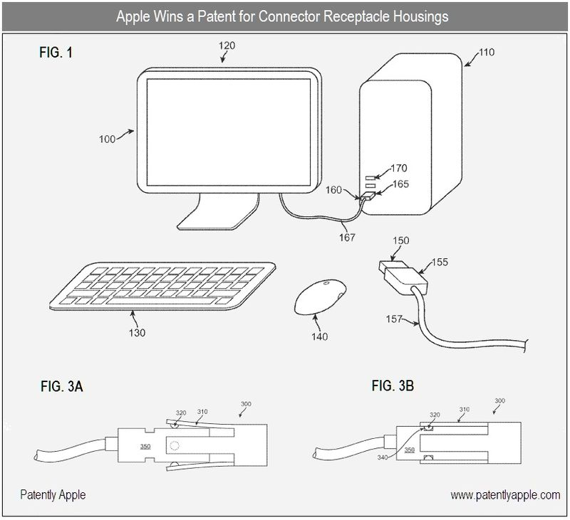 5 - apple, connector receptable housings patent sept 2010
