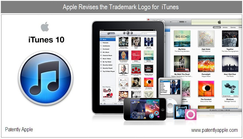 Apple Files Trademark for Revised iTunes Logo - Patently Apple