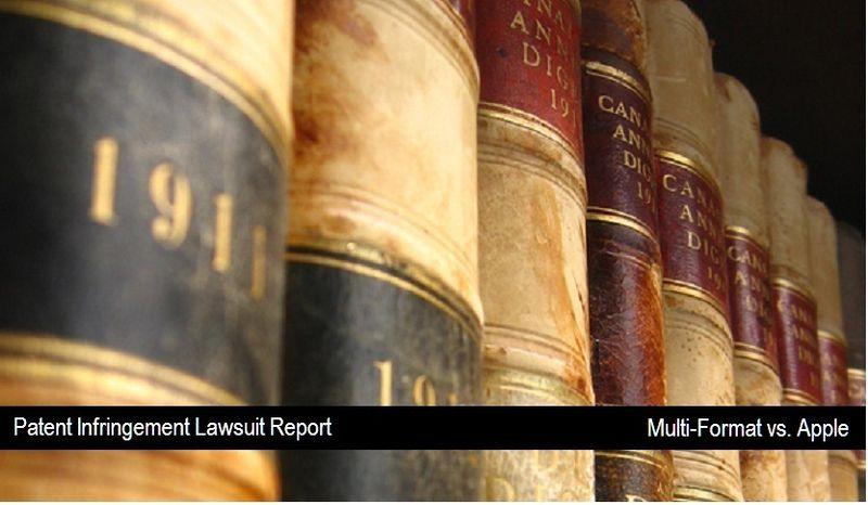 Multi-Format vs. Apple - patent lawsuit - Sept 22, 2010