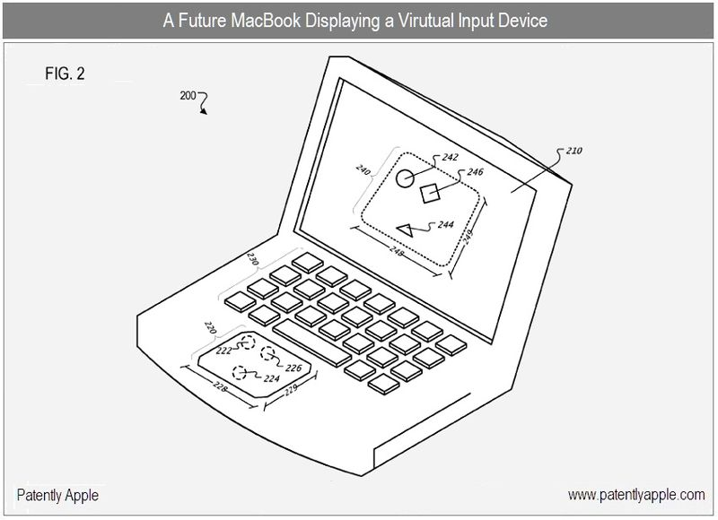 3 - future macbook displaying virutal input device fig 2 apple inc