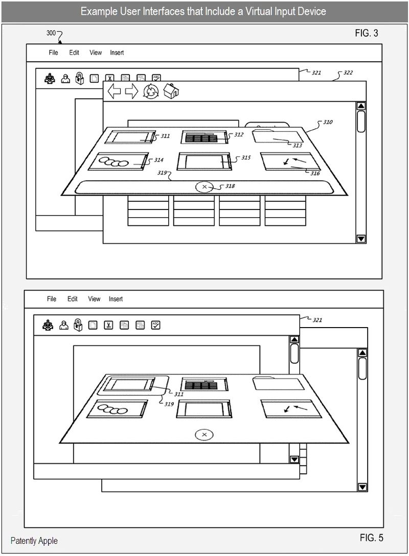 4 - example virutal ui with virtual input devices - apple inc patents sept 2010