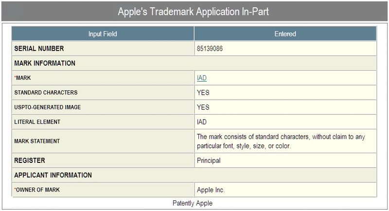 2 -  apple - tm - application-in-part for iAd - october 1 2010