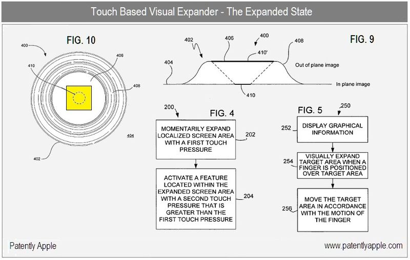 2 - Apple Granted Patent - Visual Expander - Expanded State - July 20, 2010