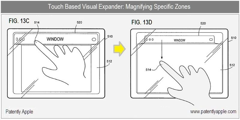 4 - Apple Granted patent - visual expander - magnifying specific zones
