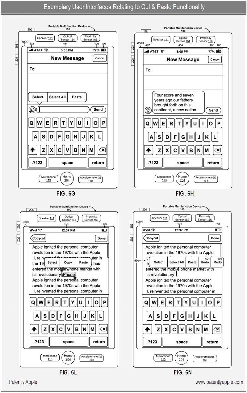 2 - Apple patent, cut & paste - figs 6G, H, L, N