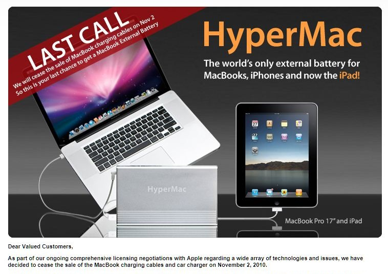 HyperMac, Sanho statement - oct 18, 2010
