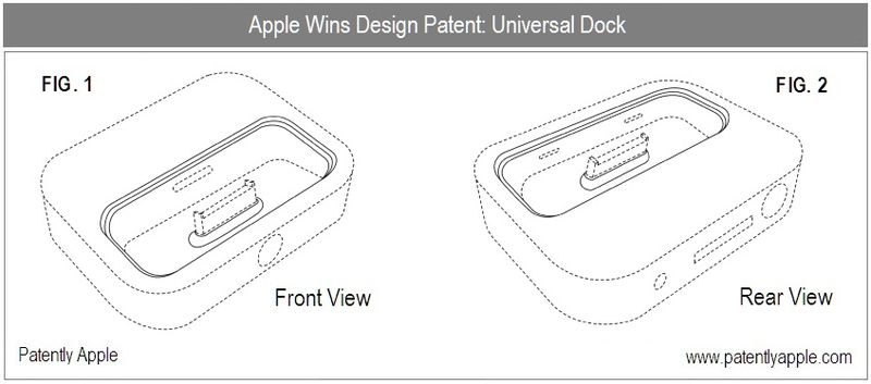 3 - Apple Inc, Universal Dock, granted patent nov 9, 2010