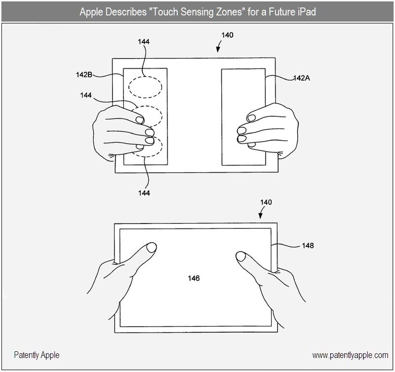 5 FINAL - Apple Describes Touch Sensing Zones - for a future iPad