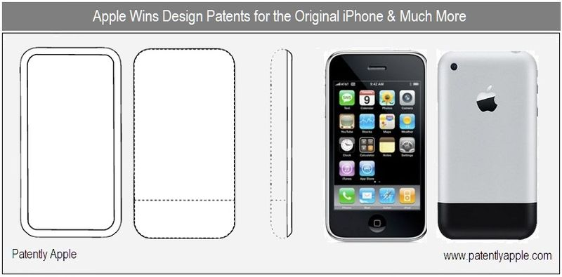 1 - cover - apple granted patents for original iphone design & More - nov 2010