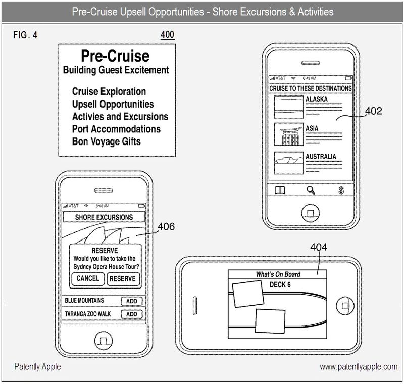 3 - Pre-Cruise excursions, activities and upsell opportunities - apple patent nfc