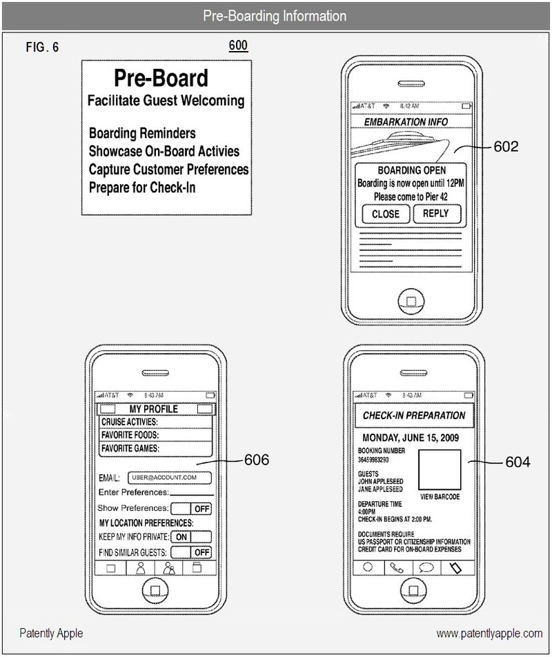 4 - Pre-Boarding Information - apple nfc patent - iTravel related