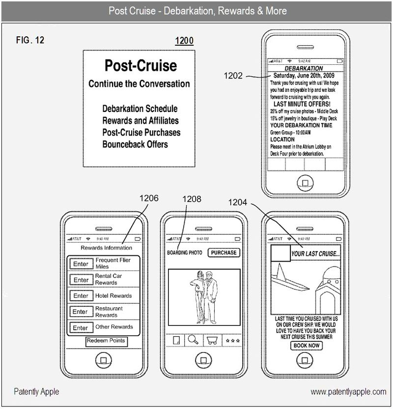7 - Post Cruise information - Apple iTravel Cruise App - apple patent 2010