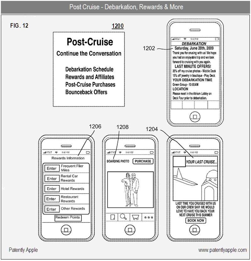 7 - Post Cruise information - Apple iTravel Cruise App - apple patent 2010