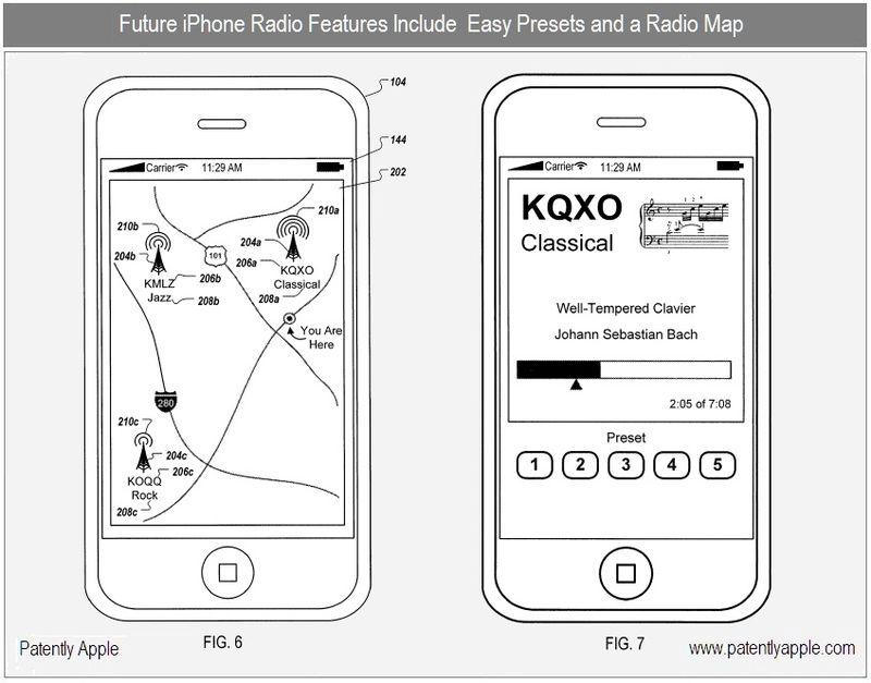 2 - Future iPhone Radio features, unique Radio Map and easy presets - dec 2010 apple patent