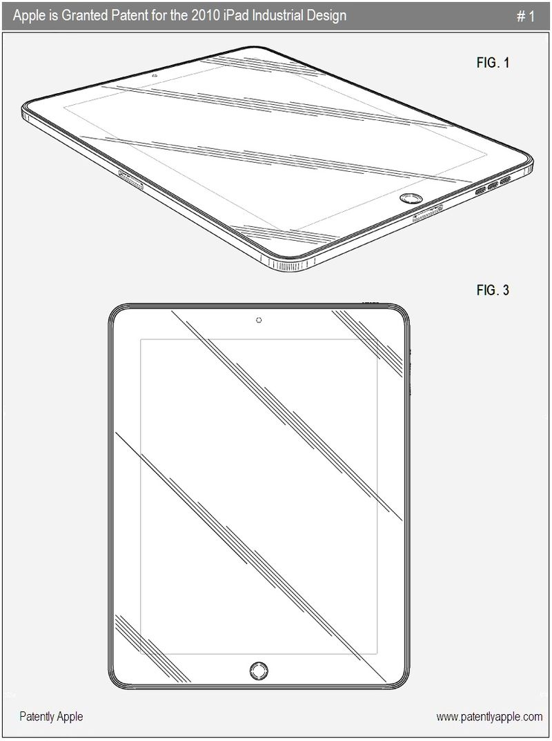 4 - Apple wins industrial design for ipad - nov 23, 2010 FIGS 1 & 3