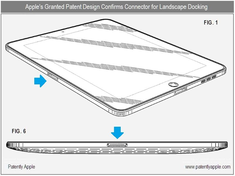 2 - Apple's US granted patent confirms second connector for landscape docking - nov 23, 2010