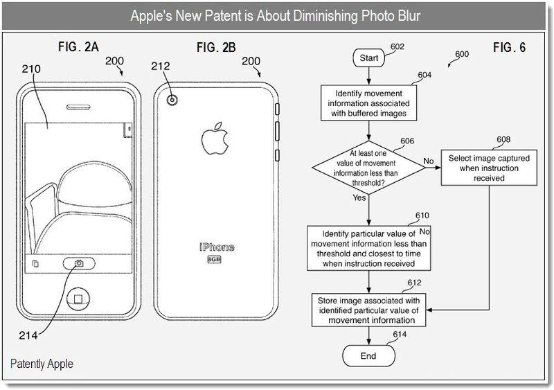 2b - Apple patent - diminishing photo blur - dec 2010
