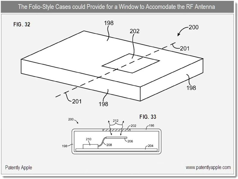 6 - folio with window for rf antenna - apple patent