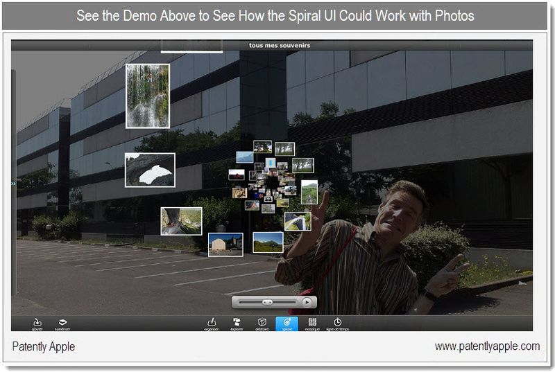 1X - Life Memory - Demo - Spirals UI with iPhoto - Dec 2010