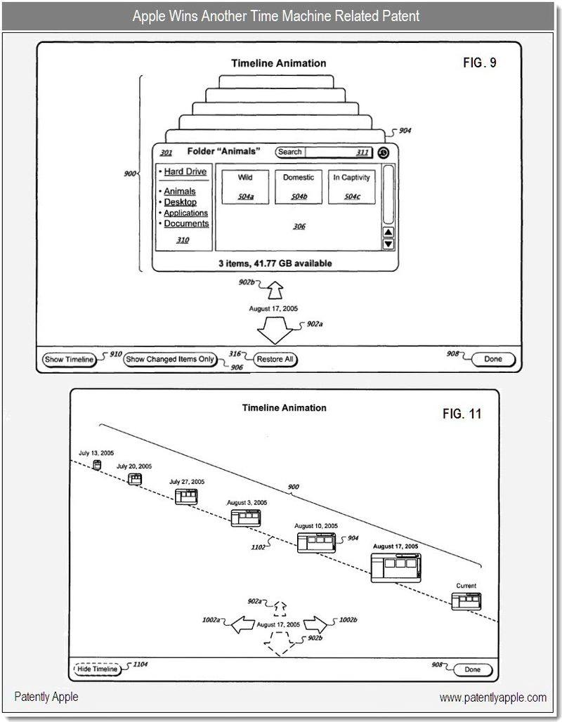 5 - Apple granted another patent for Time Machine